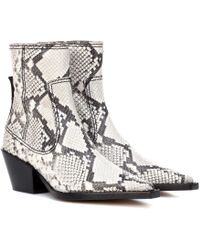 JOSEPH Printed Leather Ankle Boots - Multicolour