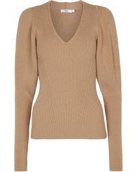 Safiyaa Jersey Laure mezcla de lana merino - Neutro