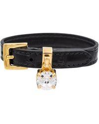 Miu Miu Armband aus Leder - Schwarz