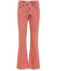 Mother Jeans flared The Tripper a vita alta - Rosso