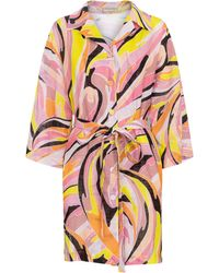 Emilio Pucci Printed Cotton Shirt Minidress - Multicolor