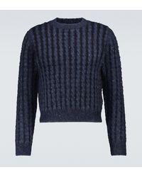 Acne Studios Jersey en mezcla de lana acanalado - Azul