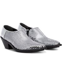 Junya Watanabe Sequined Ankle Boots - Metallic