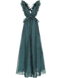Zimmermann Robe Ladybeetle mit Seidenanteil - Grün
