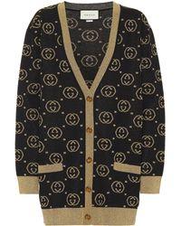 Gucci Cardigan aus einem Wollgemisch - Mehrfarbig