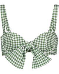 Alexandra Miro Exclusive To Mytheresa – Clara Gingham Bikini Top - Green