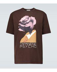 Undercover T-Shirt Japanese Psycho aus Baumwolle - Braun