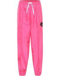 Miu Miu Pantalones de chándal de nylon - Rosa