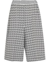 Fendi Shorts FF aus Jacquard - Weiß