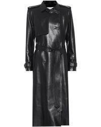 Alexander McQueen Trench-coat en cuir - Noir