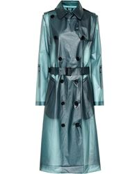 Dorothee Schumacher Trench-coat en vinyle - Bleu