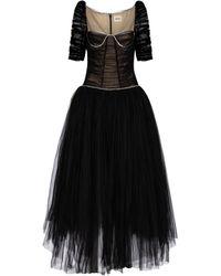 Khaite Desi Crystal-embellished Tulle Gown - Black