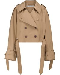 Acne Studios Double-breasted Trench Jacket - Brown