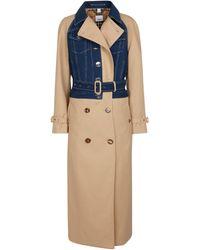 Burberry Trenchcoat aus Baumwoll-Gabardine - Blau