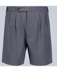 Rochas Bundfalten-Shorts aus Wolle - Blau