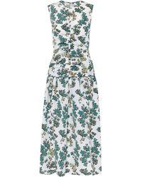 Victoria, Victoria Beckham Vestido midi floral - Azul