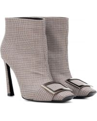 Roger Vivier - Trompette Houndstooth Ankle Boot - Lyst