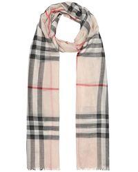 Burberry Sciarpa in lana e seta - Multicolore