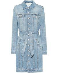 Givenchy Denim Shirt Dress - Blue