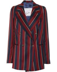Giuliva Heritage Collection The Stella Striped Wool Blazer - Red