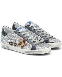 Golden Goose Deluxe Brand Sneakers Superstar mit Glitter - Mehrfarbig