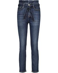 7 For All Mankind Paperbag-Jeans - Blau