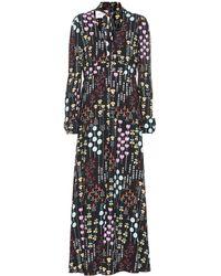 Valentino - Printed Crêpe Dress - Lyst