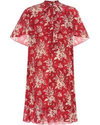 RED Valentino Minikleid aus Seiden-Georgette - Rot