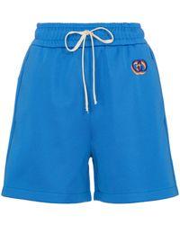 Gucci Shorts aus Jersey - Blau