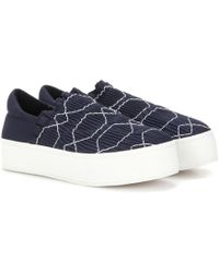 Opening Ceremony - Cici Smocked Platform Slip-on Sneakers - Lyst
