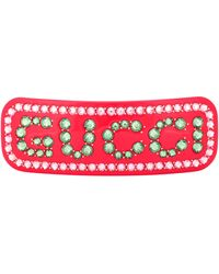 Gucci Embellished Hair Clip - Red