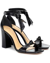Alexandre Birman Clarita Leather Sandals - Black
