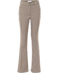 JW Anderson Pantalon évasé en laine mélangée - Multicolore