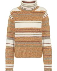 See By Chloé Striped Turtleneck Jumper - Natural