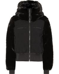 Fusalp Chesery Faux-fur Short Ski Jacket - Black