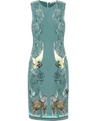 Roberto Cavalli Animal-print Crêpe Midi Dress - Green