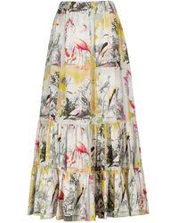 Etro Printed Cotton Maxi Skirt - Multicolor