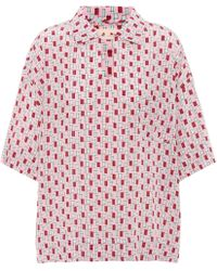 Marni - Printed Silk Shirt - Lyst