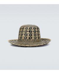Saint Laurent Maui Straw Hat - Black