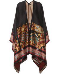 Etro Wool-blend Poncho - Multicolour