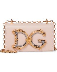 Dolce & Gabbana Sac DG Girls Small en cuir - Rose