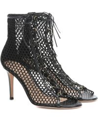 Gianvito Rossi Ankle Boots Helena 85 aus Leder - Schwarz