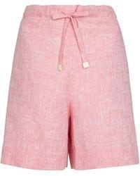 Loro Piana Exclusive To Mytheresa – Grant Linen Bermuda Shorts - Pink