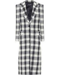 Dolce & Gabbana Manteau en laine mélangée à carreaux - Multicolore