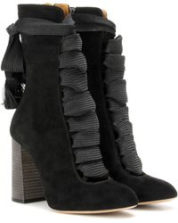 Chloé - Harper Suede Ankle Boots - Lyst