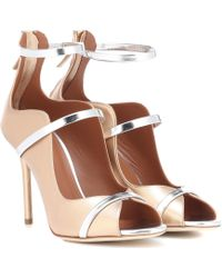 Malone Souliers Mika Leather Sandals - Metallic