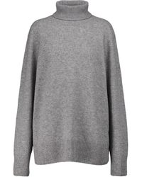 The Row Stepny Wool And Cashmere Turtleneck Sweater - Grey
