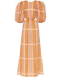 Johanna Ortiz Whispered Sunset Maxi Dress - Pink