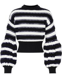 Self-Portrait - Cotton And Wool-blend Sweater - Lyst