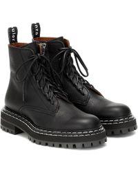 Proenza Schouler Ankle Boots aus Leder - Schwarz